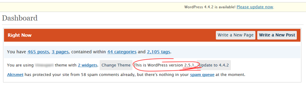 Devirusare WordPress 2.5.1