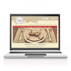 Web design: Rețetele Manuelei