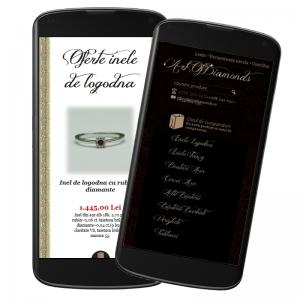 Adaptare responsive website artofdiamonds.ro