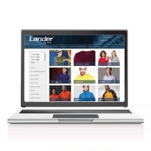 Site tip catalog online Lander.ro