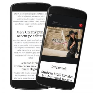 Site prezentare produse M&S Creativ
