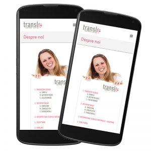 Website de prezentare - Transl8.ro