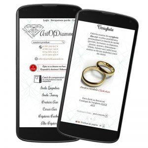 Temă grafică pentru site: artofdiamonds.ro
