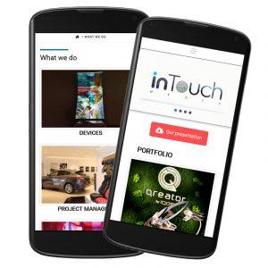 Construire site de prezentare intouchmedia.ro
