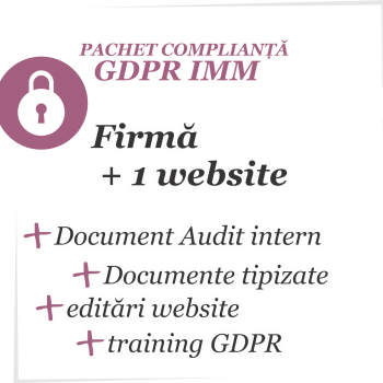 Pachet complianță GDPR IMM
