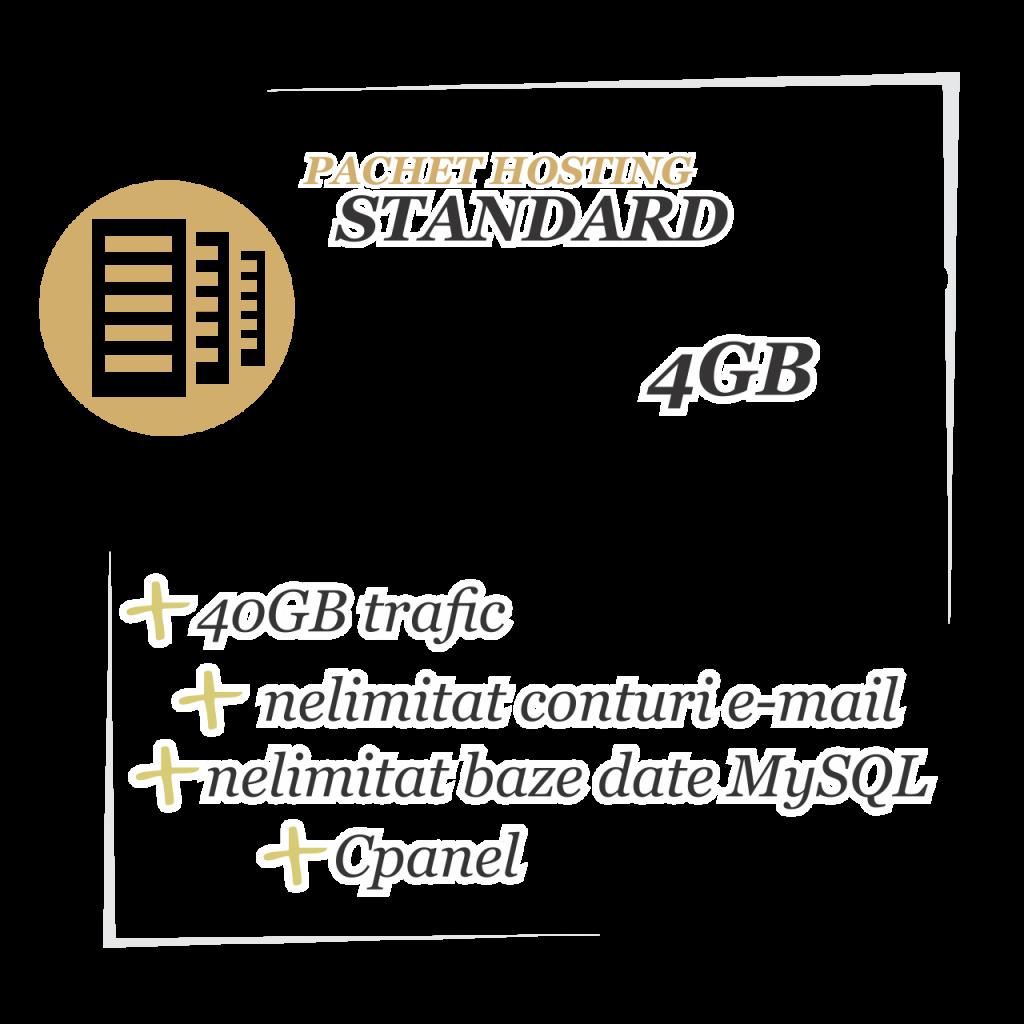 Pachet hosting STANDARD 4GB