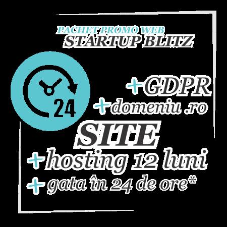 Domeniu, Hosting, Site, GDPR - Startup BLITZ, website gata repede